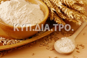 Αλεύρι. <br/> Πηγή: https://commons.wikimedia.org/wiki/File:Wheat-flour.jpg