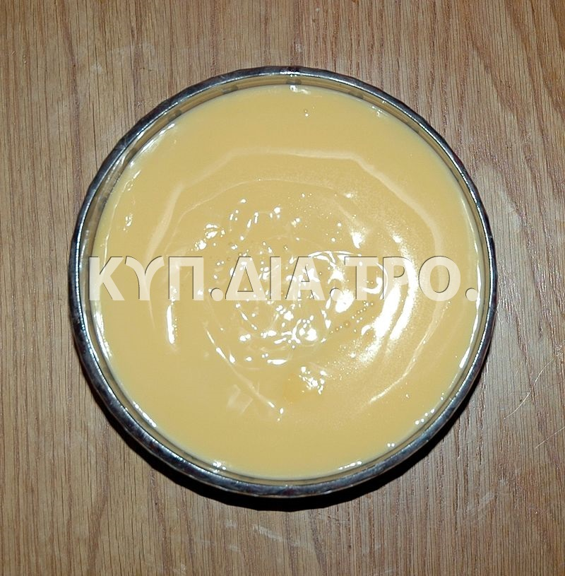 Κρέμα ζαχαροπλαστικής (patisserie custard). <br/> Πηγή: https://en.wikipedia.org/wiki/Custard#/media/File:Trifle-%28custard-layer%29-plan.jpg